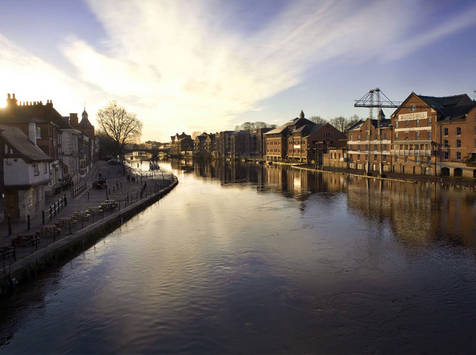 York - View of the River Ouse taken from Ouse Bridge