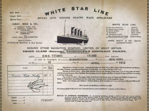 Cobh - Titanic Experience - Ticket Annie Kate Kelly( © )